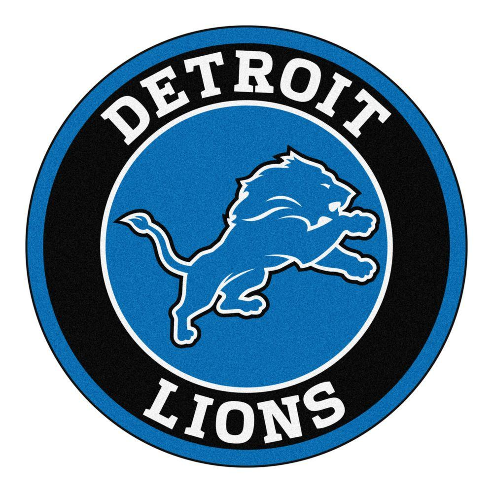 Fanmats Nfl Detroit Lions Black 2 Ft 3 In X 2 Ft 3 In