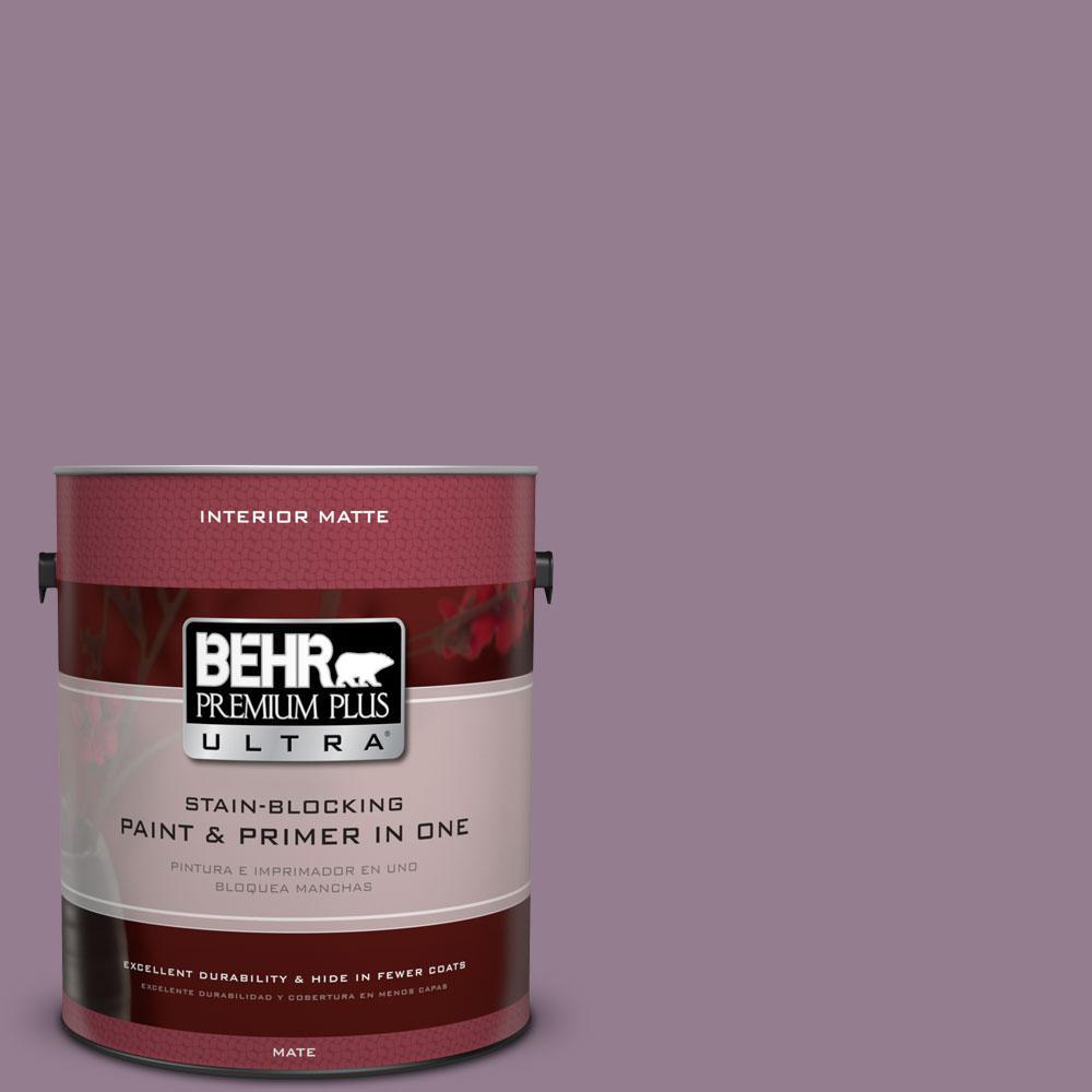 BEHR Premium Plus Ultra 1 gal. #680F-5 Plum Swirl Flat/Matte Interior Paint