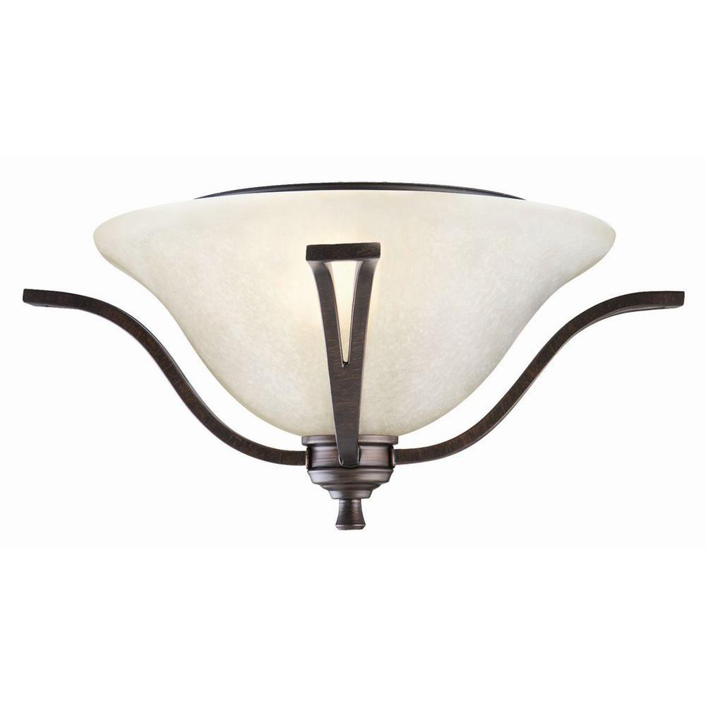 Ironwood 2-Light Brushed Bronze Ceiling Mount Light
