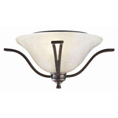 Ironwood 2-Light Brushed Bronze Ceiling Mount Light