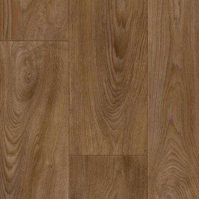 Scorched Walnut Natural 12 ft. Wide x Your Choice Length Residential Vinyl Sheet