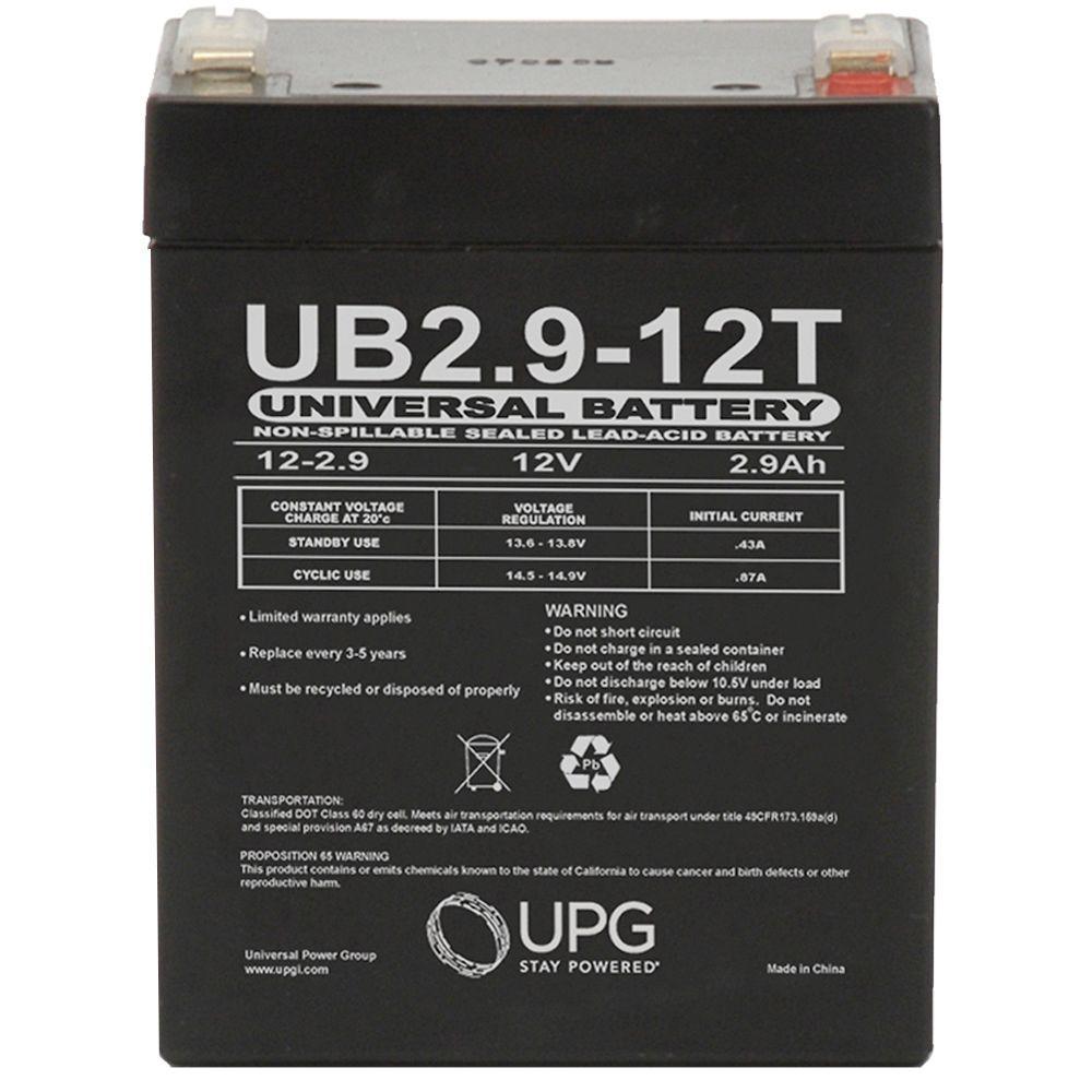 SLA 12-Volt 2.9 Ah F1 Terminal Battery