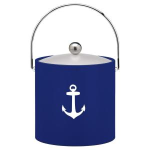 Click here to buy Kraftware Kasualware Anchor 3 Qt. Ice Bucket in Blue by Kraftware.