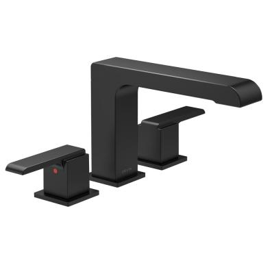 Ara 2-Handle Deck-Mount Roman Tub Faucet Trim Kit in Matte Black (Valve Not Included)