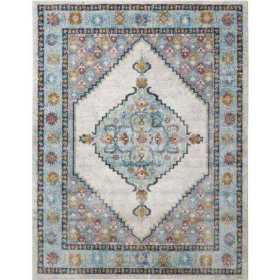 Parlin Vadoma Ivory/Blue 9 ft. 2 in. x 12 ft. 5 in. Indoor Area Rug