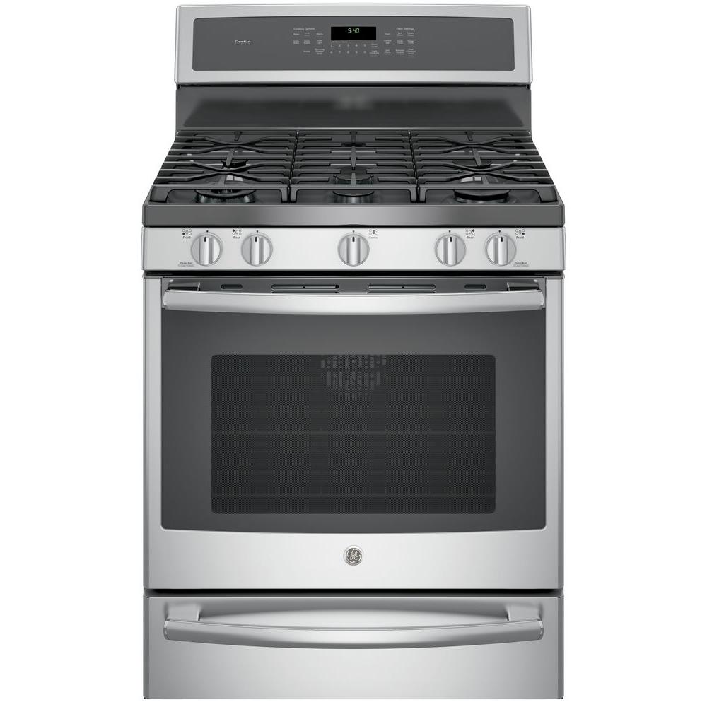 GE Profile 30 in. 5.6 cu. ft. Smart Gas Range with Self-C...