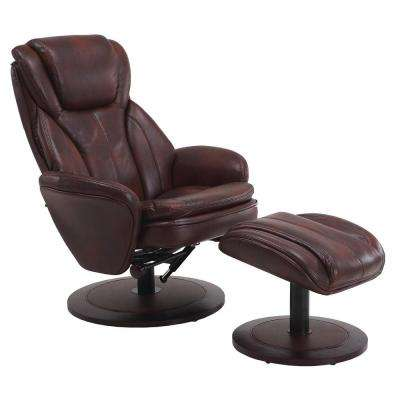 Comfort Chair Whisky Breatheable Fabric Swivel Recliner with Ottoman