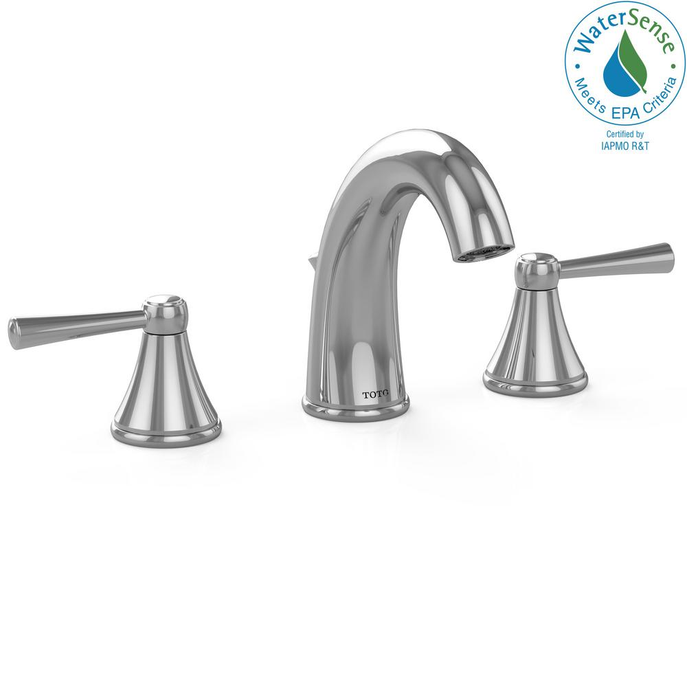 TOTO Silas 8 in. Widespread 2-Handle Bathroom Faucet in Polished ...
