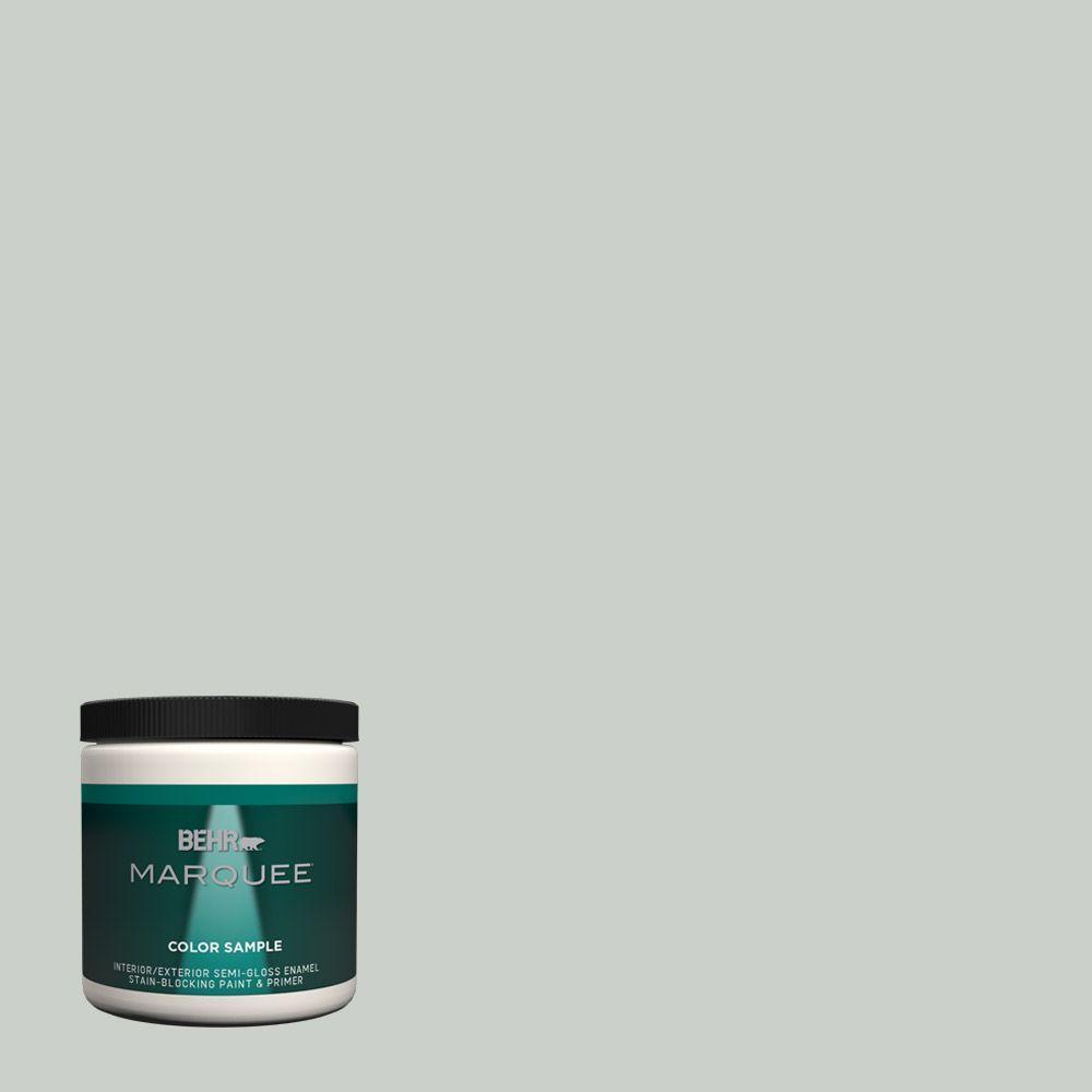 Behr Marquee 8 Oz Mq3 48 Shy Green One Coat Hide Interior Exterior Semi Gloss Enamel Paint