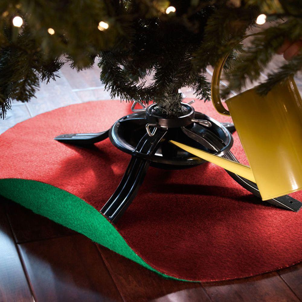 Absorbent//Waterproof Floor Protection Tree Stand Tray 93//72cm in Diameter Christmas Tree Floor Protector Gentlecarin Christmas Tree Stand Mat