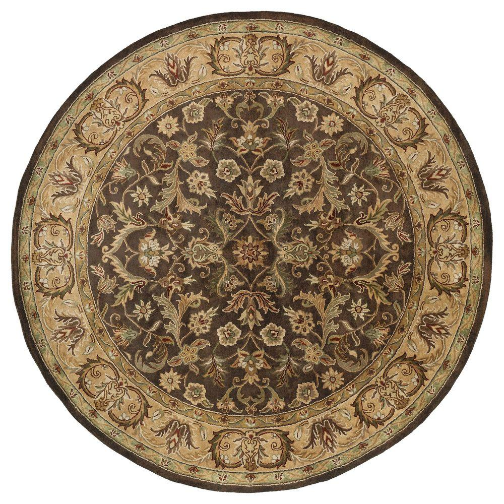 home decorators collection tara chocolate 8 ft x 8 ft round area rug 1513260840 the home depot. Black Bedroom Furniture Sets. Home Design Ideas