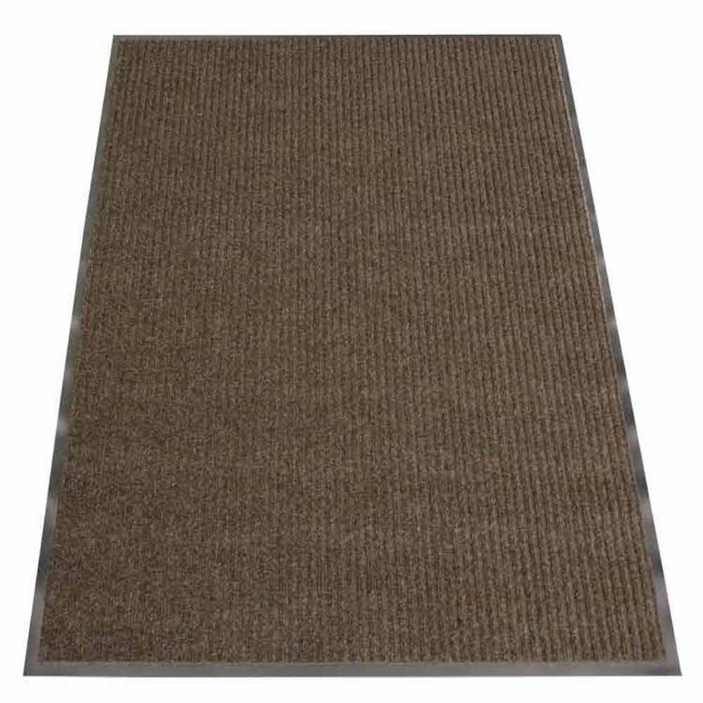 Ribbed Polypropylene Brown 4 ft. x 6 ft. Polypropylene Carpet Mat