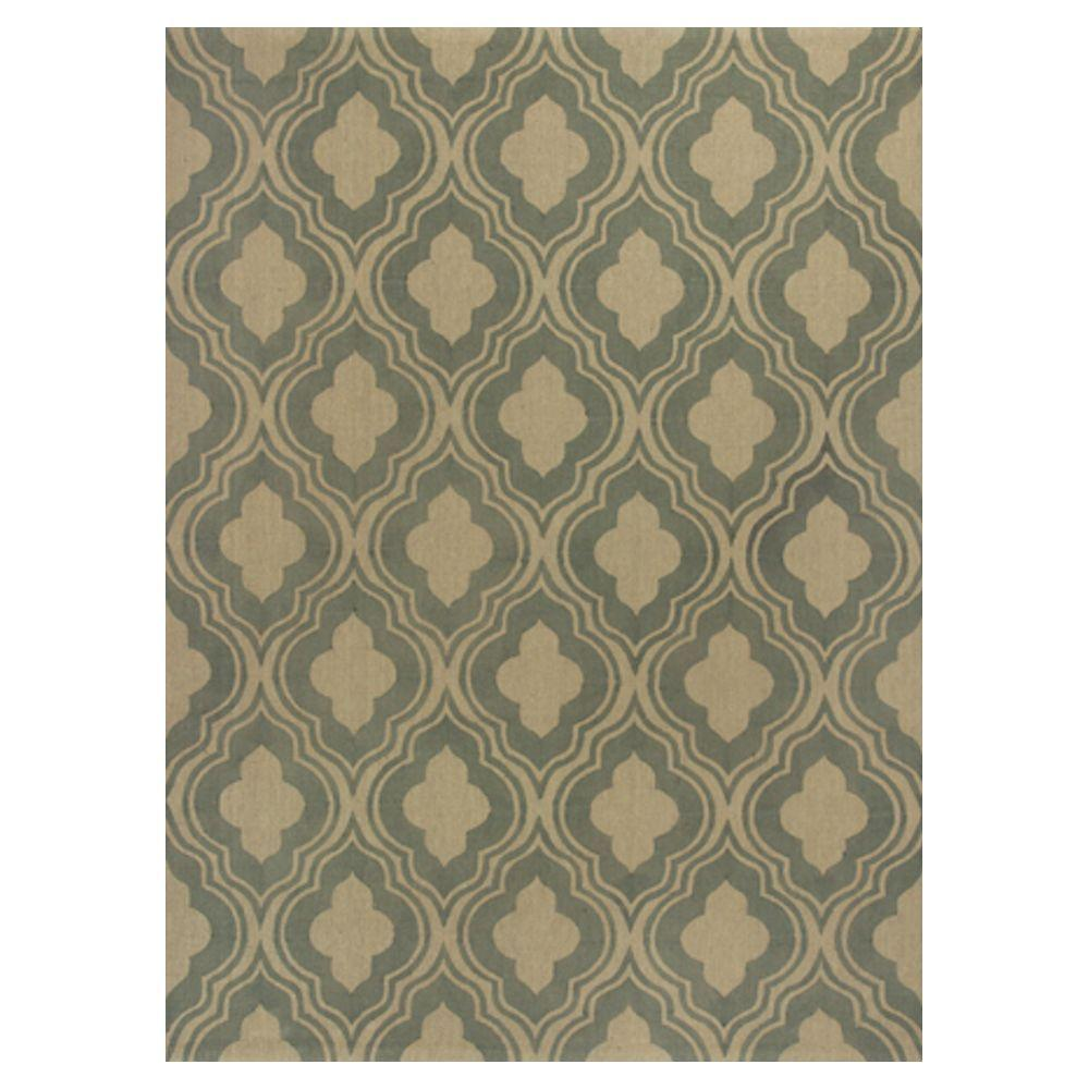Kas Rugs Palace Row Sage/Beige 6 ft. 6 in. x 9 ft. 6 in. Area Rug