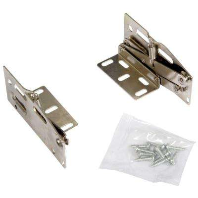 3.88 in. x 2.88 in. x 1.88 in. Nickel Plated Scissor Hinges Cabinet Organizer (1 pair)