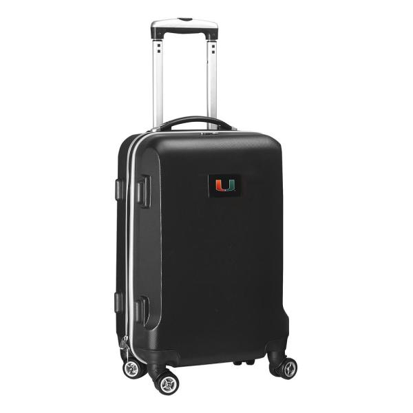 Denco NCAA Miami 21 in. Black Carry-On Hardcase Spinner Suitcase CLMUL204_BLACK