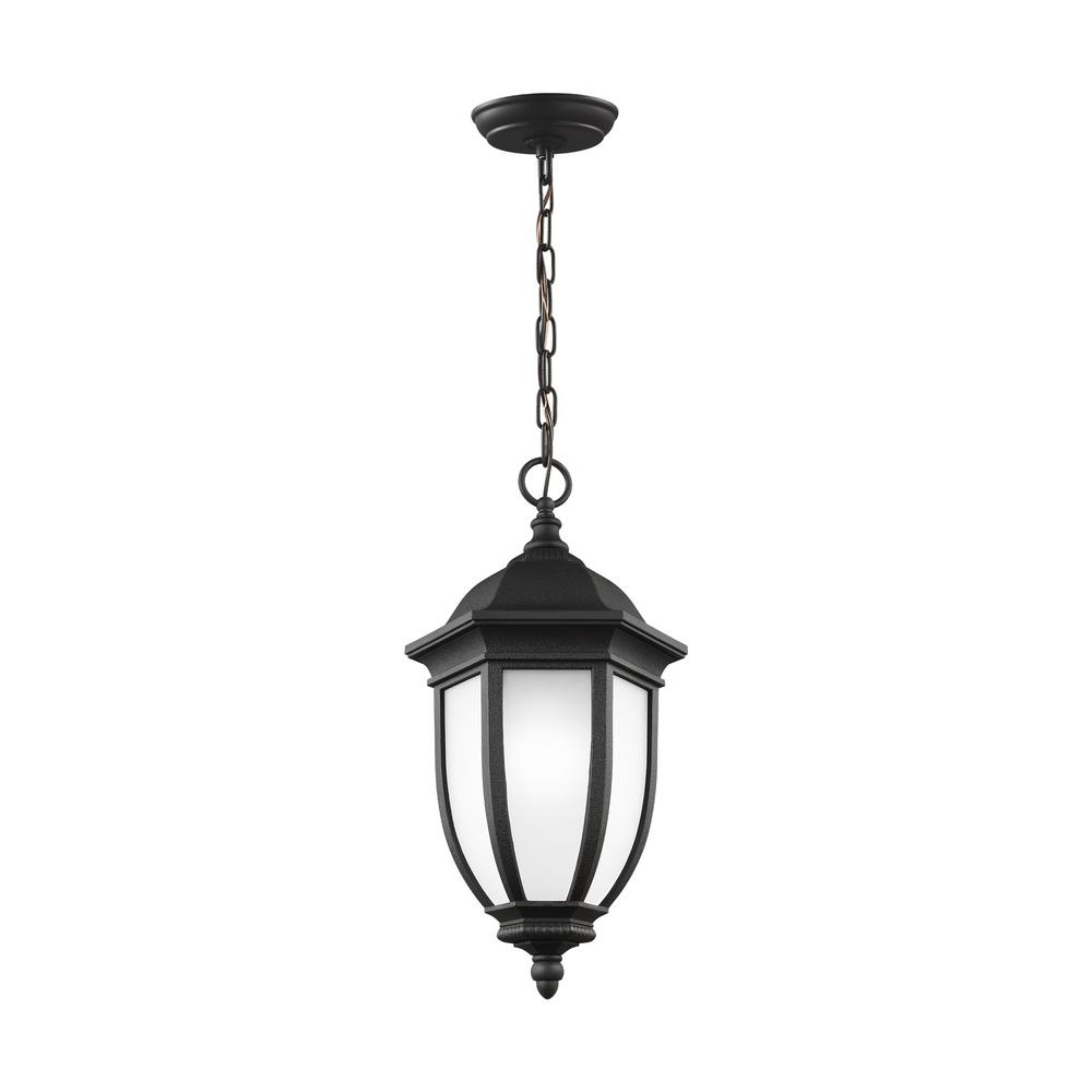 Galvyn Black 1-Light Hanging Pendant with LED Bulb