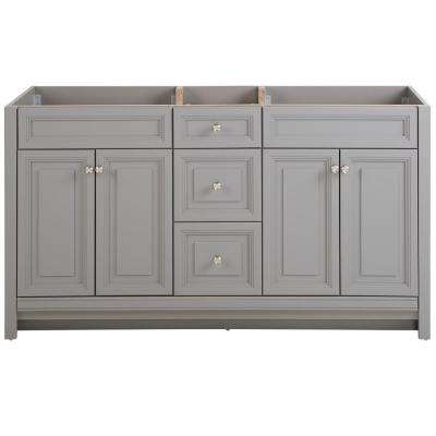 Brinkhill 60 in. W x 34 in. H x 22 in. D Bath Vanity Cabinet Only in Sterling Gray