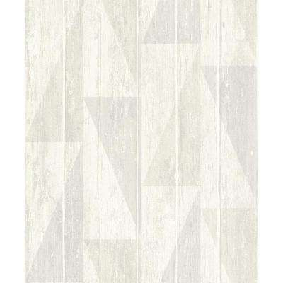 8 in. x 10 in. Nilsson White Geometric Wood Wallpaper Sample