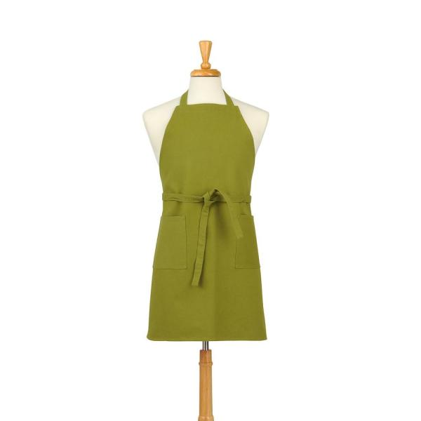 ASD Living Two Pocket Cotton Canvas Chef's Apron, Lime Green 01-420