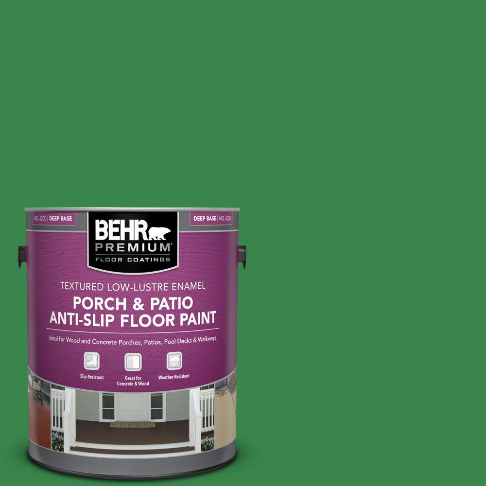 1 gal. #450B-7 Green Grass Textured Low-Lustre Enamel Interior/Exterior Porch and Patio Anti-Slip Floor Paint