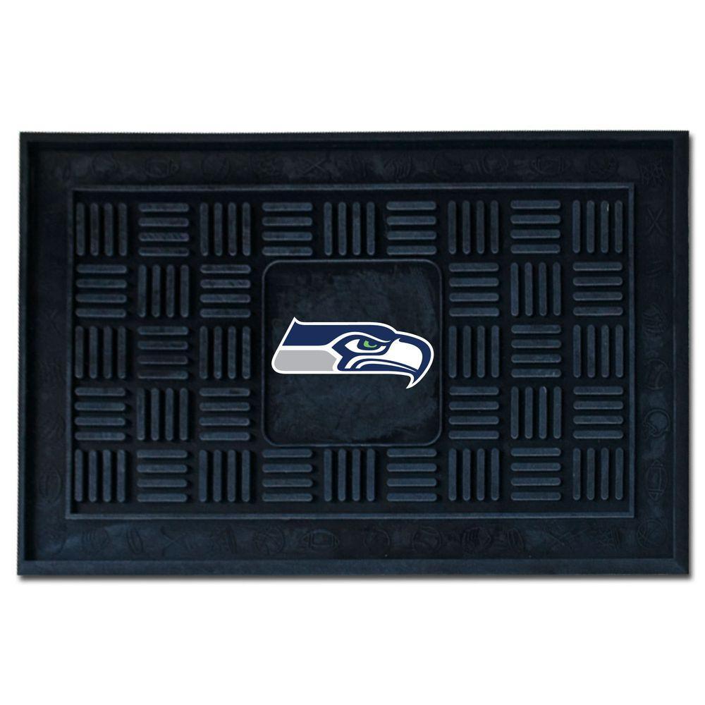 FANMATS Seattle Seahawks 18 in. x 30 in. Door Mat