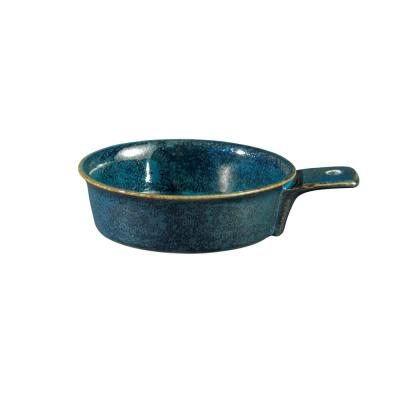 5 in. Blue Moss Porcelain Single Handle Tapas Dishes (Set of 24)