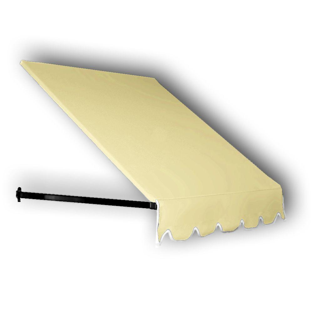 AWNTECH 7 ft. Dallas Retro Window/Entry Awning (31 in. H x 24 in. D) in Light Yellow