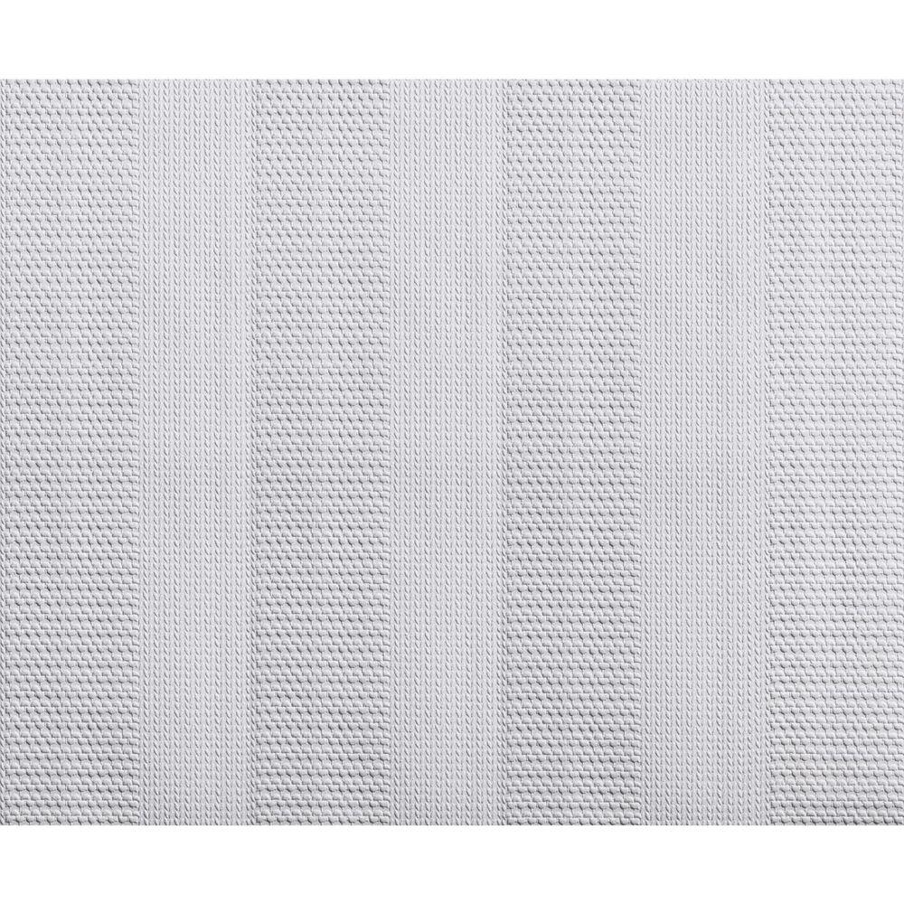York Wallcoverings 57.75 sq. ft. Patent Decor Knitted Stripe Paintable Wallpaper