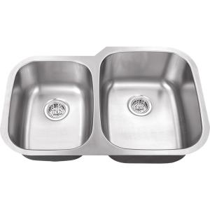 Exceptional IPT Sink Company Undermount 32 In. 16 Gauge Stainless Steel Kitchen Sink In Brushed  Stainless IPTLX4060   The Home Depot Ideas