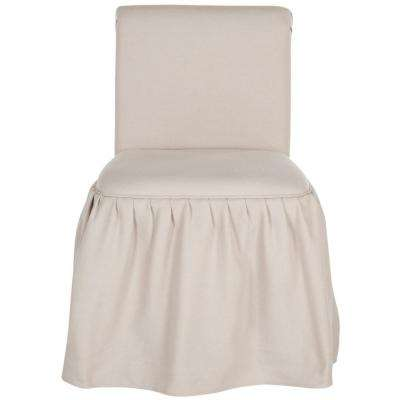 Taupe Linen Vanity Chair