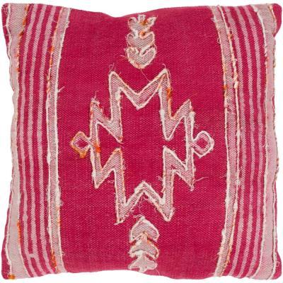 Saundra Pink Graphic Polyester 20 in. x 20 in. Throw Pillow