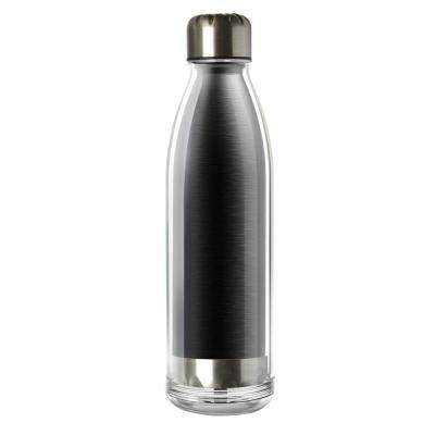 Viva La Vie 18 oz. Black Stainless Steel Water Bottle