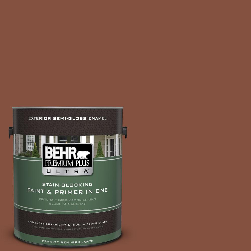 BEHR Premium Plus Ultra 1-gal. #T14-9 Hipsterfication Semi-Gloss Enamel Exterior Paint