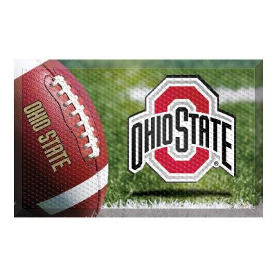 Fanmats 19971 Team Color 18 x 30 Crumb Rubber Ohio State University Door Mat