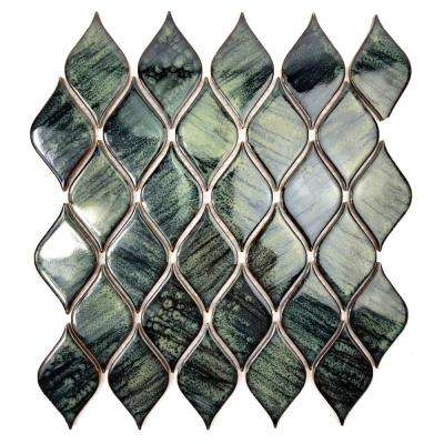 Monet Turquoise 12 in. x 12 in. x 4.76 mm Porcelain Mosaic Tile