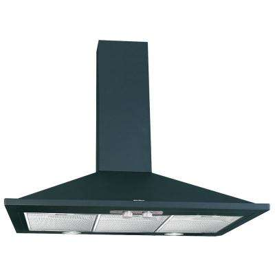 Valencia 36 in. Wall Mount Chimney Convertible Range Hood 500 CFM with Light in Black