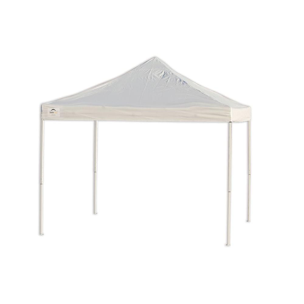 Pro Series 10 ft. x 10 ft. White Straight Leg Truss