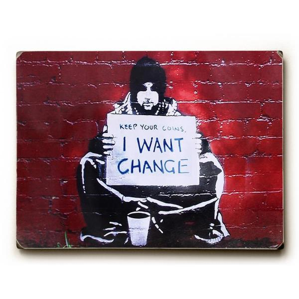 ArteHouse 9 in. x 12 in. ''Keep Your Coins'' by Banksy