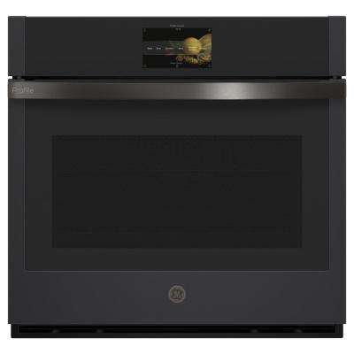 Profile 30 in. Smart Single Electric Wall Oven with Convection Self-Cleaning in Black Slate, Fingerprint Resistant