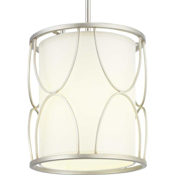 Landree 1-Light Silver Ridge Pendant