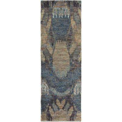 Dyami Navy 3 ft. x 8 ft. Indoor Runner Rug