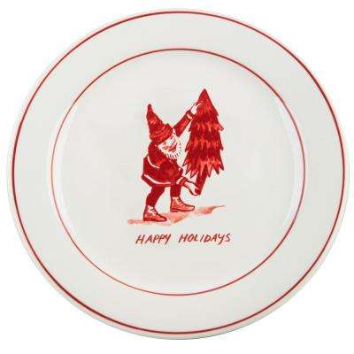 Molly Hatch 8.5 in. D Santa Salad Plate