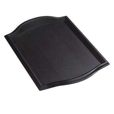 12 in. x 17 in. Polypropylene Bistro Serving and Food Court Tray in Black (Case of 12)
