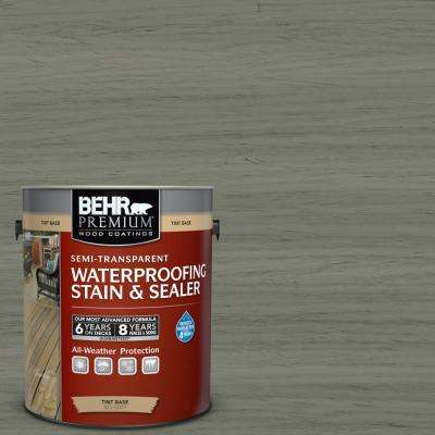 1 gal. #ST-137 Drift Gray Semi-Transparent Waterproofing Exterior Wood Stain and Sealer