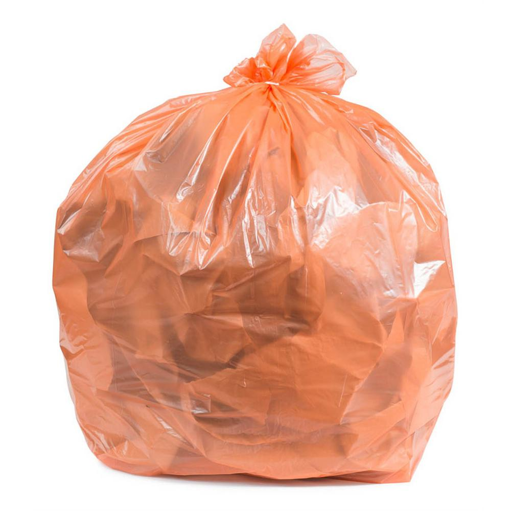 Plasticplace 55 60 Gal Orange Trash Bags Case Of 100