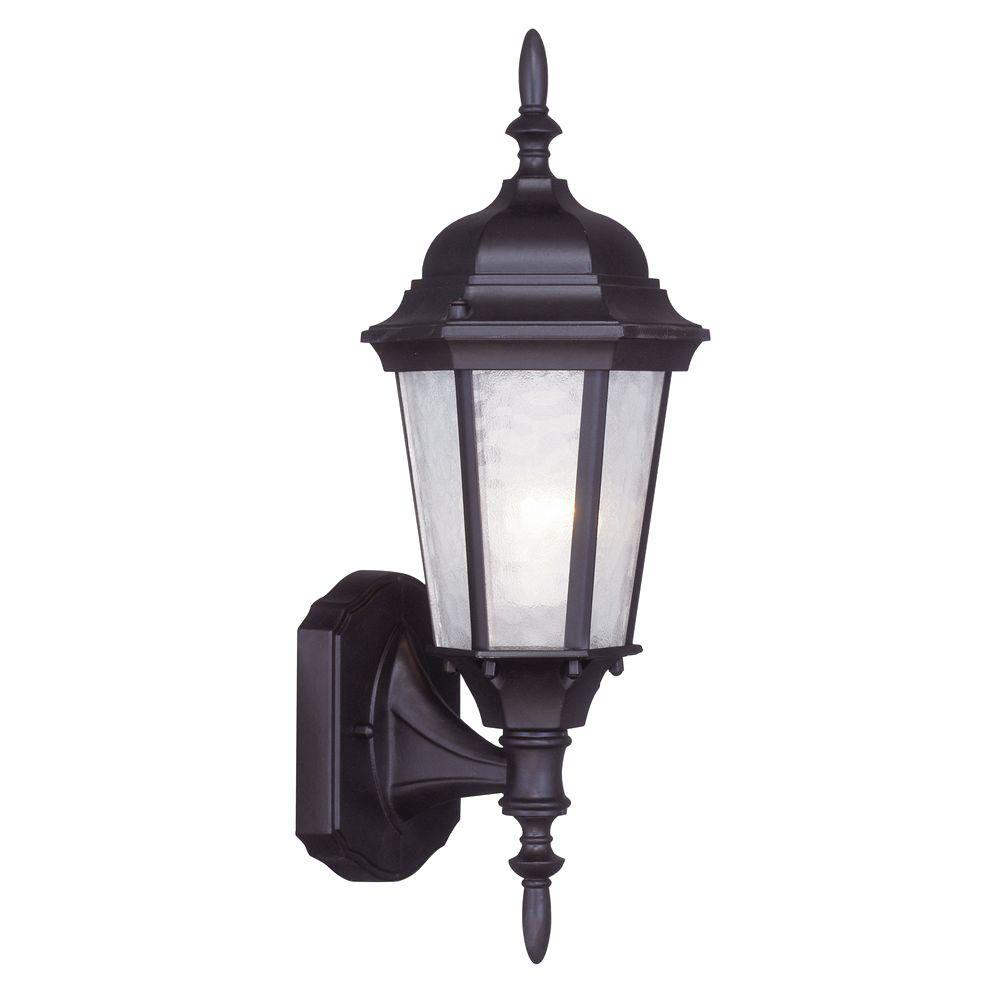 1-Light Bronze Outdoor Wall Lantern