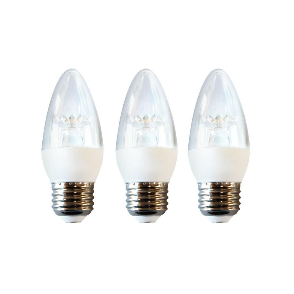 ecosmart 40 watt equivalent b11 dimmable energy star led light bulb soft white 3 pack ecs b11. Black Bedroom Furniture Sets. Home Design Ideas