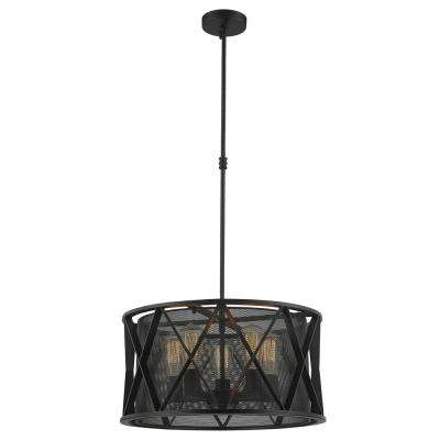 Nautilus 5-Light Matte Black Pendant