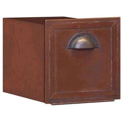 4400 Series Antique Brass Recessed-Mounted Column Mailbox