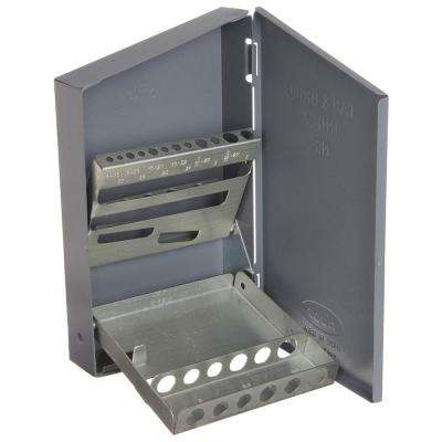 4 in. x 7 in. NF Tap and Drill Bit Tool Case